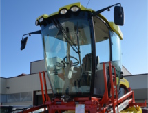 Use of KALORI's OEM solution on grape harvesting machine cab